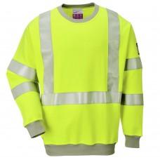 Flame Resistant Arc Flash (16cal/cm²)  High Vis Class 3 Yellow Sweatshirt