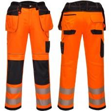 2 Way Stretch Holster Pocket Work Trouser Orange (RIS-3279-TOM)