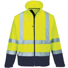 High Vis Yellow/Navy Two Tone Portwest Softshell Jacket