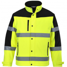 High Vis Water Resistant Breathable Two Tone Portwest Softshell Jacket