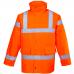 Extreme Cold Hi Vis Class 3 & Railspec (orange) Traffic Coat
