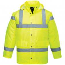 Extreme Cold Hi Vis Class 3 & Railspec (orange) Traffic Coat