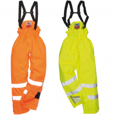 Class 3 ARC Flash (25 Cal/cm²) Hi Vis Fire Retardant A/Static Railspec Waterproof Trousers