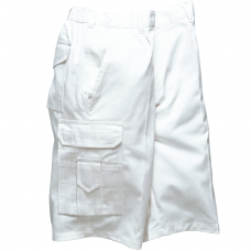 Decorators White 100% Cotton Shorts with 8 Pockets