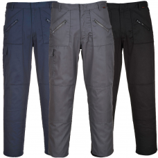 Action Work Trousers 245g Multi Zip Pockets 4 Leg Lengths
