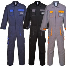 Cotton Rich Contrast Trim 245g Coverall with Knee Pad Pockets