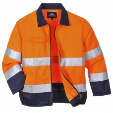 Texpel Stain Resistant Madrid Hi-Vis Jacket Class 3, Railspec (orange)