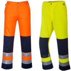 Stain Resistant High Vis Work Trousers Class 2, Railspec (orange)