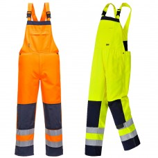 Stain Resistant High Vis Bib and Brace Class 2