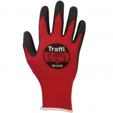 Traffi Glove Metric Red Nylon Liner & PU Coated Cut Level A
