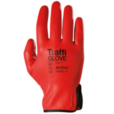 Traffi Active Water Resistant Red SoFlex™ Coated Safety Glove