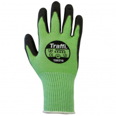 Traffi Metric Safety Cut Index C Lightweight Green Glove