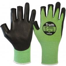 Traffi 3 Digit Green Cut C PU Coated Gloves TG5220