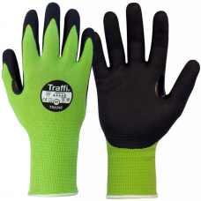 LXT Traffi TG6240 Cut E Green Safety Gloves