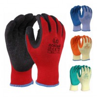 Uci AceGrip® Sanitised Rubber Palm Coated Grip Builders Gloves