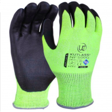 Uci Nitrile Foam Palm Coat Kutlass Green HPPE Liner Cut 5/C Safety Glove
