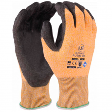 Traffic Light Orange Kutlass PU Palm Coated Cut Level 3 / B Safety Gloves