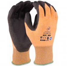 Traffic Light Orange Kutlass PU Palm Coated Cut Level 3 / B Safety Gloves