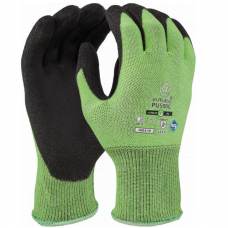 Traffic Light Green PU Palm Kutlass Cut Level 5/C Safety Glove 4543