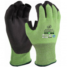 Uci Part Fingerless Green PU Palm Kutlass Cut Level 5/C Safety Glove 4543