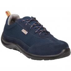 Deltaplus Como Navy Suede Split Leather & Mesh Shoes