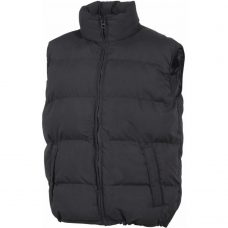 Quilted PU Coated Body Warmer Drawstring Bottom