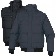 Winter Coat / Bodywarmer with Padded Hood & ID Badge Holder