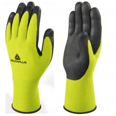 DeltaPlus Foam Nitrile on Polyamide/Spandex HV Yellow Liner Gloves