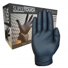 Extra Tough Diamond Grip BLACK Nitrile Engineers One Use Gloves 100 hands