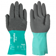 Ansell AlphaTec® Double Dipped Chemical Gauntlet with GRIP™ Technology