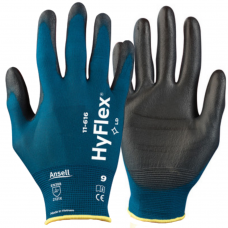 Ansell Hyflex 11-616 PU Palm Lightweight 18 gauge Liner Precision Gloves