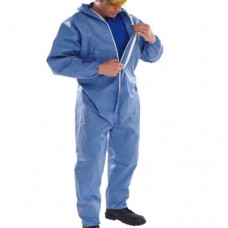 Type 5 / 6 Disposable Hooded Breathable Coverall Blue