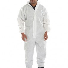 Type 5 / 6 Disposable Hooded Breathable Coverall White