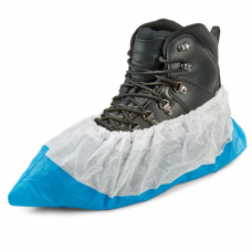 """Polyprop. Nonwoven Upper - Embossesd PE Sole 16"""" Overshoe Covers x 200 pairs"""