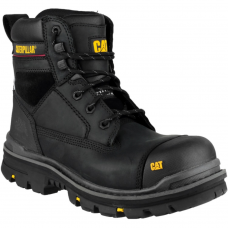 CAT Gravel Black Leather Upper Caterpillar Full Safety boot
