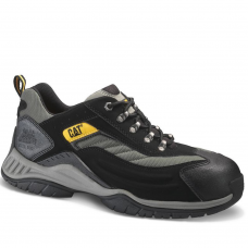 Caterpillar Moor Lightweight PU Nubuck Black Safety Trainer