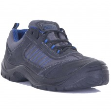 Click CF17 Lightweight Safety Trainer with Mesh and Suede Leather Upper