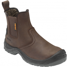 Contractor Brown Dealer Safety Work Boot Steel Midsole