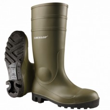 Dunlop Protomaster Green Full Safety Wellington Boot