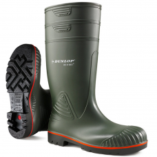 Dunlop Acifort Heavy Duty Full Safety Green Wellington Boots
