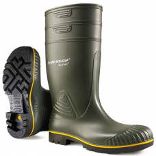 Dunlop Acifort Heavy Duty Green NON Safety Wellington Boots