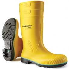 Dunlop Acifort Heavy Duty Yellow Safety Wellington Boots