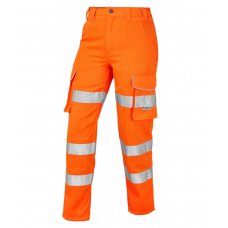 Leo Class 1 Ladies Poly/Cotton Cargo Work Trouser Orange 3 Leg Lengths