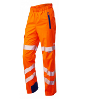 Breathable Waterproof Hi Viz  Orange Leo Cargo Overtrousers Class 2/Ris-3279-Tom Railway Use Certified