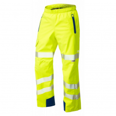 Premium LTEC Breathable Waterproof Hi Viz Yellow Leo Overtrousers Class 2