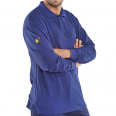 Fire Retardant Long Sleeve Polo Shirt