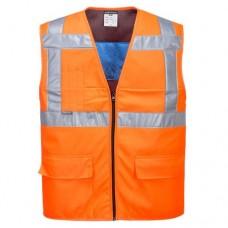 Evaporative Cooling Class 2 Orange Waistcoat
