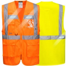 Executive Reflective Safety Vest with LED Lights  Class 2
