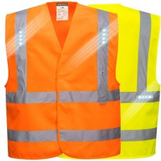 Reflective Safety Vest with LED Lights  Class 2