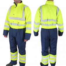 High Visibility Cold Weather Waterproof Coverall Class 3